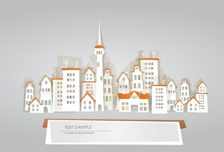 white city background Vector