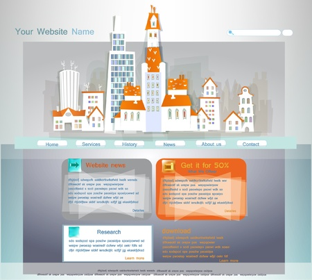 White city collection Web template Vector