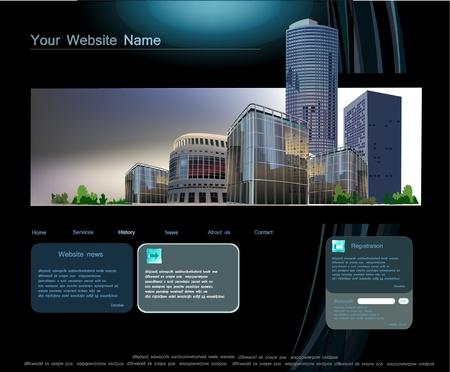 bank building: web template
