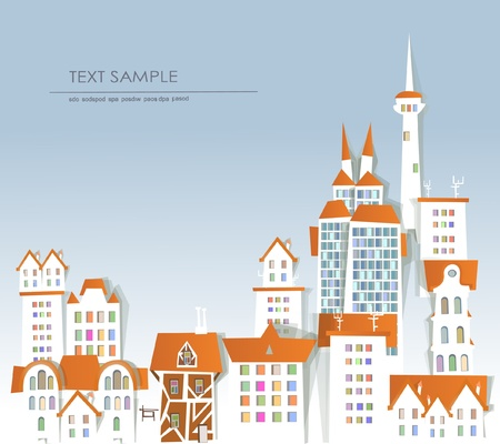 White city collection Background Vector