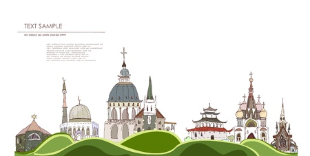 Religions of the world background Vector