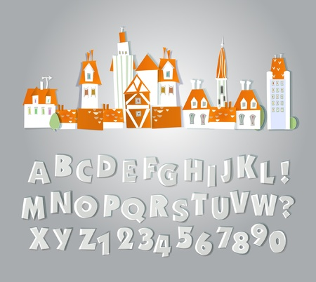 street and alphabet White city collection Vector