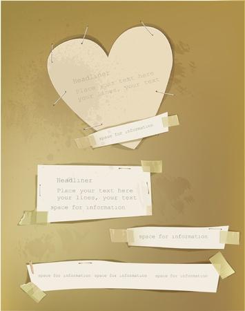 Valentine paper set Vector