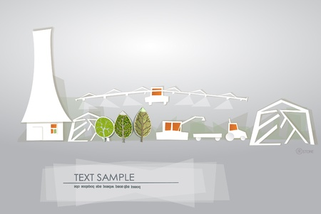 farm and White city collection Vector