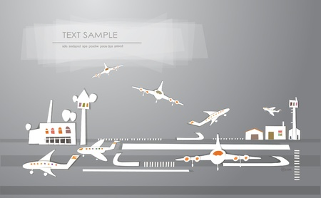 airport stickers background Vector
