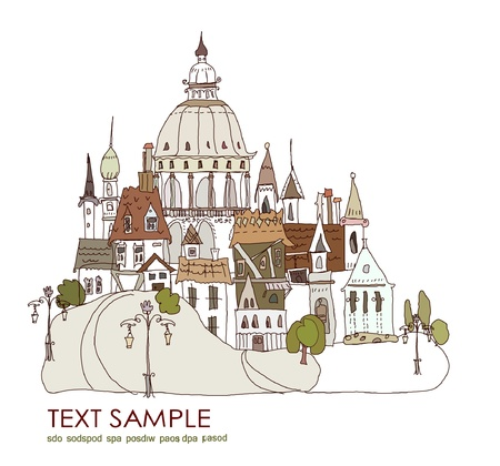 old city background Vector
