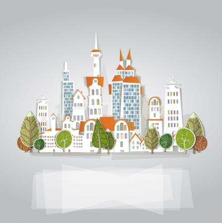 Fond de ville blanche