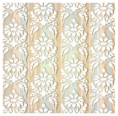 seamless ornament made of paper stickers Vector