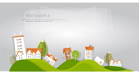town on the hills Stock Vector - 12482701