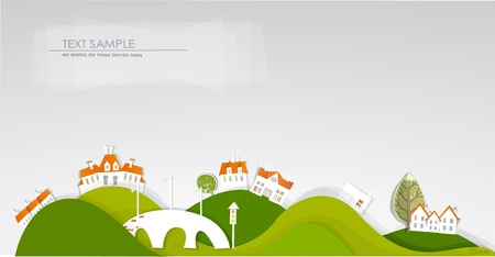 White city on the hills Vector