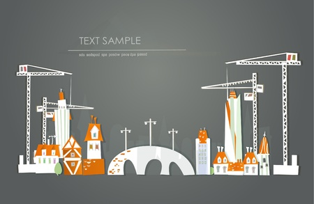 building site  White city  collection Vector