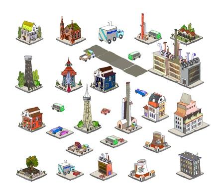 city icons Stock Vector - 12487583