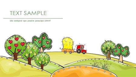 fruit harvest: harvest time  Happy world  collection Illustration