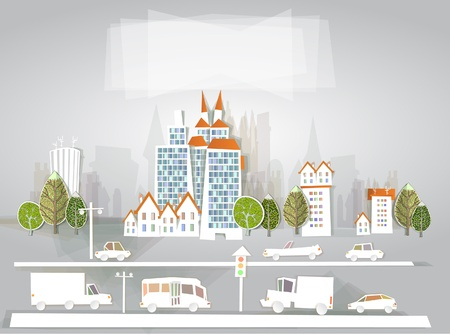 city background  White city  collection Vector