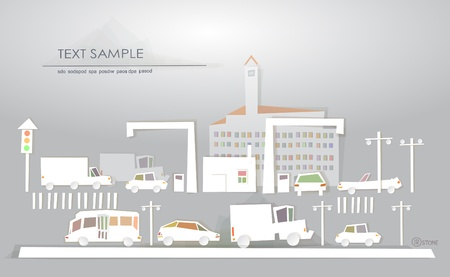 silhouette industrial factory: industrial zone  White city  collection