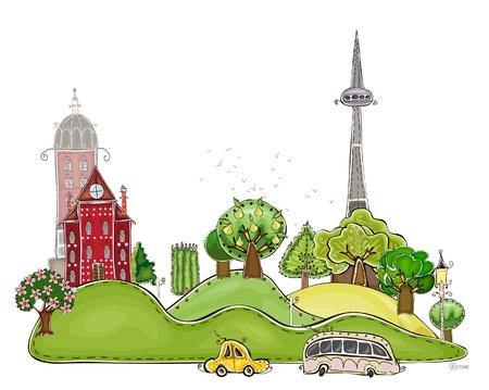 City background Vector
