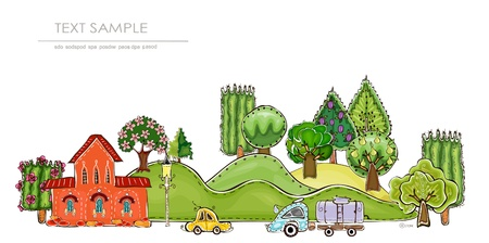world agricultural: city and park Illustration
