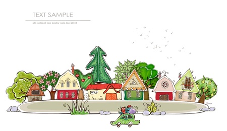 Village background Vector