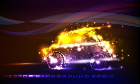 neon car Vector