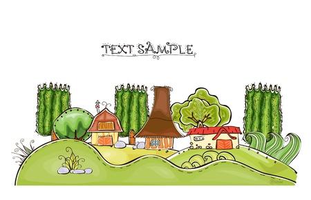 world agricultural: farm background Illustration