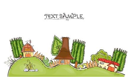 world agricultural: farm illustration
