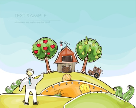 Village  Happy world  collection Vector