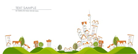 city on the hills White city collection Vector