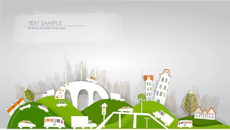 city and roads White city collection Vector