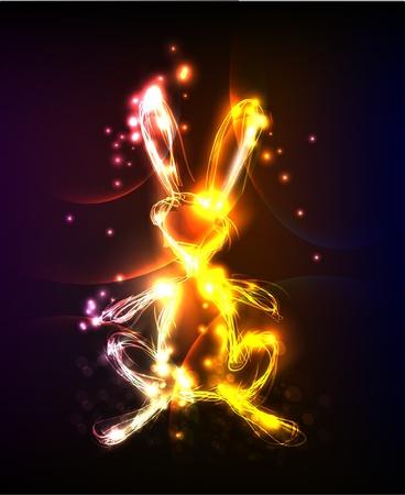 neon bunny Stock Vector - 12528370