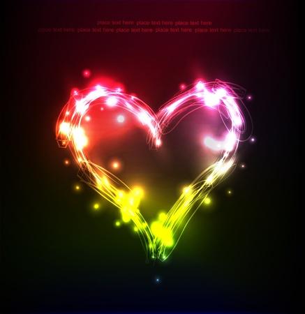 glitter glow:  heart