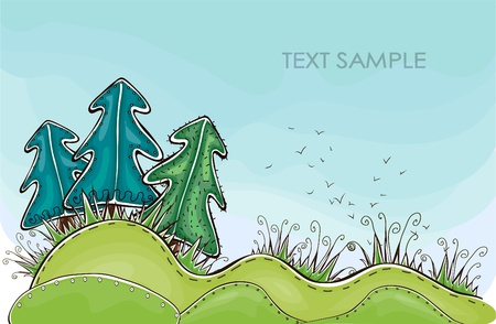 abstract forest  Happy world  collection Vector