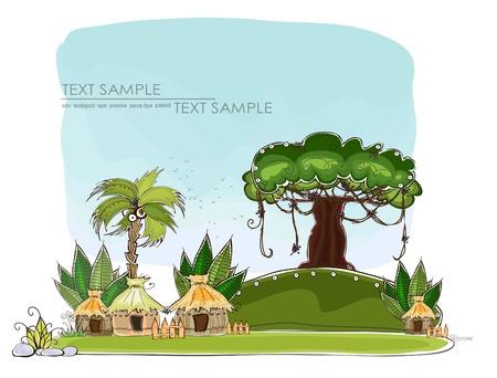 Dschungeldorf glückliche Welt Sammlung
