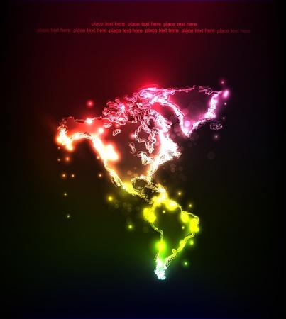 neon map Stock Vector - 12528394