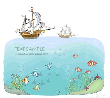 isla del tesoro: la vida del mar de fondo recogida mundo feliz