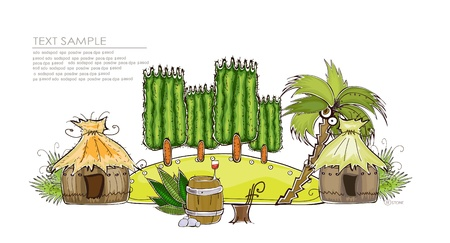 tahiti: jungle background  Happy world  collection