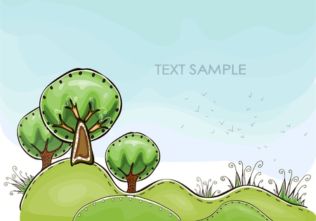 forest  Happy world  collection Vector