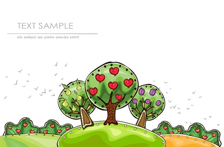 organic garden  Happy world  collection Vector