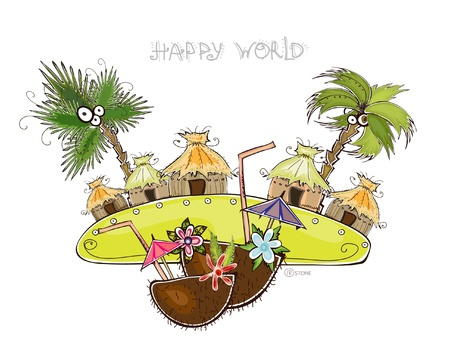 bungalow: Happy world collection  Illustration