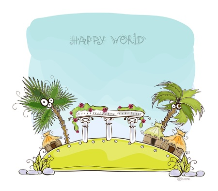 luxury holidays background Honeymoon Happy world collection  Vector