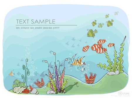 deep under the sea background Vector