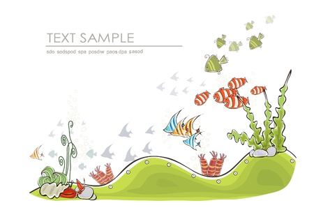 under the sea background Happy world collection  Vector