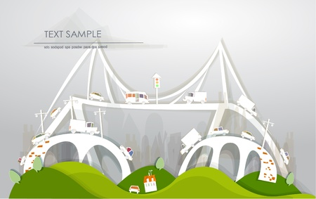 bridges White city collection  Vector