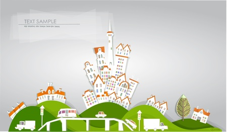 bridge in nature: city on the hill White city collection