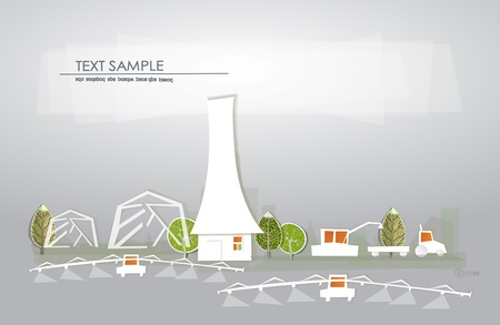 farm illustration White city collection  Vector