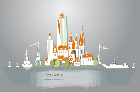 port  White city  collection Vector