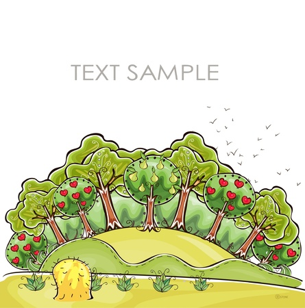 organic farm  Happy world  collection Stock Vector - 12883600