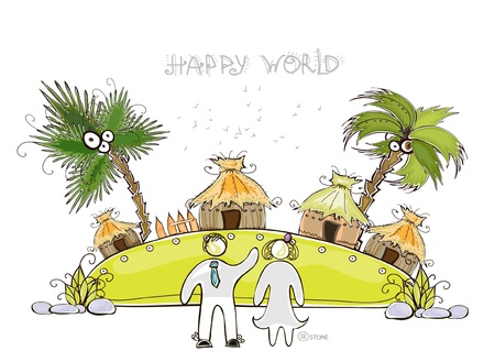southern: tropical village  Happy world  collection