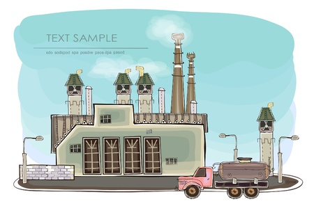 mega city: industrial view Illustration