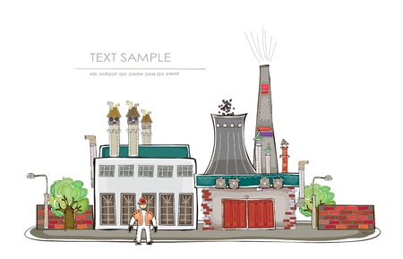 industrial view  Happy world  collection Vector