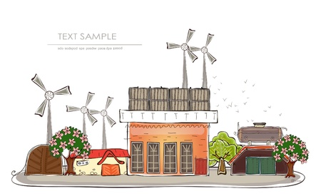 wind mills: power generator  Happy world  collection
